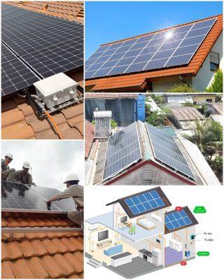 thi công hệ thống điện mặt trời áp mái độc lập solarone.vn